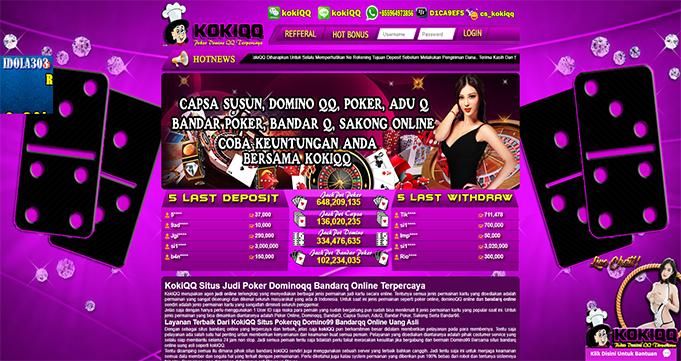 KokiQQ Situs Poker Domino Online Uang Asli Resmi